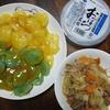 味付きのお肉で野菜炒め