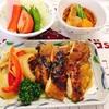 鶏肉のカレー蒸し焼き 定食