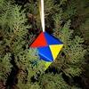折り紙でオーナメントの立体的なものを簡単に作る作り方画像で解説