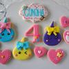 4歳になる女の子へほっぺちゃんクッキー♡