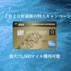 【2020年最新の特大キャンペーンは1月末まで】ANAアメックスカード入会で最大75,500マイル獲得