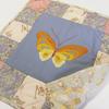 蝶の刺繍リメイクキルト
