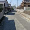 今朝、岩原公民館前の県道の掃除した!