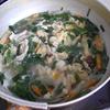 幸運な病のレシピ( 1329 )夜:刺し身、ハンバーグ、汁(ニラ)、後に餃子、杏仁豆腐