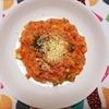 失敗柔らかご飯を使ってシーフードとブロッコリーのトマトリゾットの作り方。