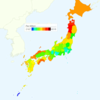 Rate of Deaths from Cancer by Prefecture in Japan, 2015