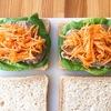 サンドイッチとスープのランチ