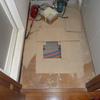 洗面所の床(浴室出入り口付近)ふわふわ補修