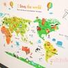 可愛くて勉強にもなる【子供部屋】世界地図ウォールステッカーを貼りました