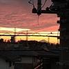 夕焼け美しく富士山も見えた!