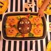 ハロウィンごはん ホットプレート1つでおばけハンバーグとオムライス
