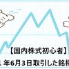 【国内株式初心者】2021年6月3日取引した銘柄の記録