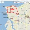 マラソン練習、今日は分割20km