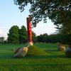 地球と握手 とやの潟の呼吸(鳥屋野潟公園内)−水と土の芸術祭2009