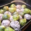 ミートボールと芽キャベツのコロコログリル