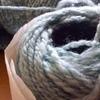 手紡ぎ糸について-今回は藍染めの糸-