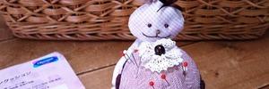 【ステイホームで手芸生活】うさぎさんのカップケーキ・ピンクッションを作りました。