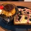 横浜山手のLittle Village Cafeでプリンとピザトースト