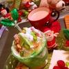 ふたつの林檎のクリスマスミントヨーグルトパフェ