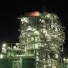海崎工場夜景:太平洋セメント大分工場跡,EREXの煌びやかなプラント。
