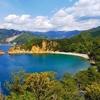 西伊豆「黄金崎海水浴場」はキャンプ場のすぐ前の穴場ビーチ!