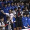 デンソー応援団席にいるのは富山第一高校のコたち