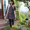 お庭でファッションチェック!