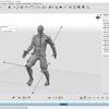 自然なモーションを作成するCascadeurで人型モデルのモーションを作成する その2(作成モーションをUnityやBlenderに取り込む)