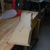ヒノキ材でまな板を製作  きれいな木目といい香り!