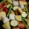 野菜のぎゅうぎゅう焼きと紅茶豚