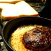 チーズの羽付きハンバーグ【裏山キャンプ飯】