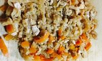 塩から過ぎた切り干し大根のリノベーション、①切り干し大根の混ぜご飯、②大根の出汁巻き
