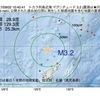 2017年09月02日 10時40分 トカラ列島近海でM3.2の地震