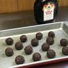 リキュール類とチョコレート。