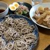 ざる蕎麦と 大根と鶏肉の煮物
