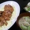 豚ヒレステーキ、漬け物、味噌汁