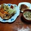 幸運な病のレシピ( 2265 )昼:鳥かつ、海老とホタテの合わせフライ、ゴーヤ天ぷら、ブロッコリーボイル