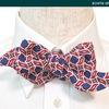 蝶ネクタイの型紙,デザイン,トラディエイティブ[7]ウェーブ(波形)-----結ぶ 蝶ネクタイ 手結び蝶ネクタイ