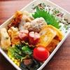 【お弁当】カラフル弁当で満腹!豚の生姜焼きとコーンの天ぷら弁当
