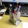 廃品素材でペン立て工作