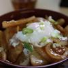 川北町の食堂で「かわきた味噌豚どん」を食べた