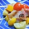 鯛と桃、トマトのサラダ