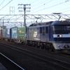 東海道本線の名古屋付近の貨物列車