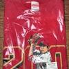 今日のカープグッズ:「黒田200勝記念Tシャツ(投)、(200WINS)、(仁王立ち)」