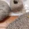 今年もよろしくお願いいたします。新年はリフ編みのショールから