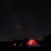 朱鞠内湖の満天の星空と偶然撮れた昇ってくる月