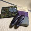 戦前の銘仙の反物と大叔母が大切にしていた昭和の草履