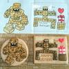 お友達と過ごすお誕生日会(*^▽^)/★*☆♪  ゴーレムのアイシングクッキーと桃たっぷりデコレーションケーキ♪♪