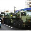 国道58号の真ん中で、米軍車両が立ち往生 ⇨ 渋滞