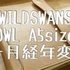 ワイルドスワンズ A5サイズノートカバー【OWL】半年使用 経年変化記録